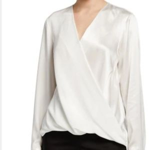 Trina Turk Silk Colorblock Black & White Top